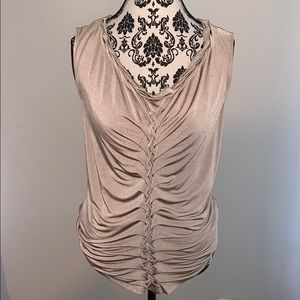 Silky shimmer sleeveless top